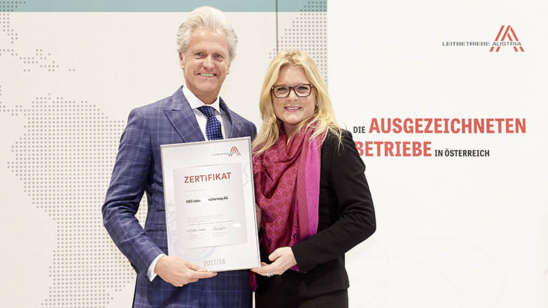 Michael Miskarik und Monica Rintersbacher, Geschäftsführerin Leitbetriebe Austria