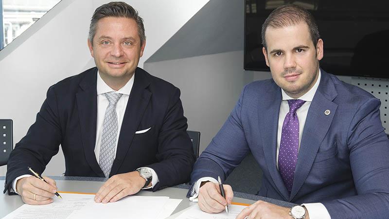 Friedrich Neubrand jr., CEO der GrECo JLT Gruppe & Erik Keszthelyi, Vorstandsvorsitzender der Keszthelyi Holding