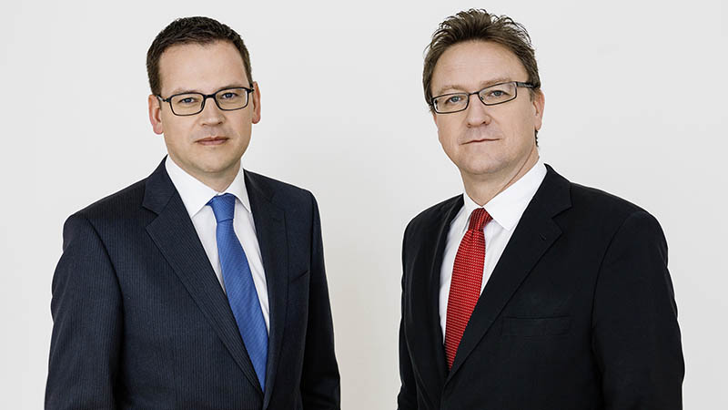 Mag. Helmut Ettl und Mag. Klaus Kumpfmüller