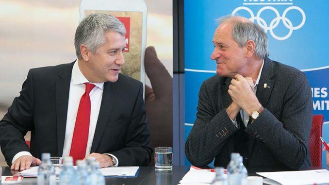 Mag. Wolfgang Lackner Vorstandsvorsitzender Europäische Reiseversicherung, Generalsekretär Peter Mennel