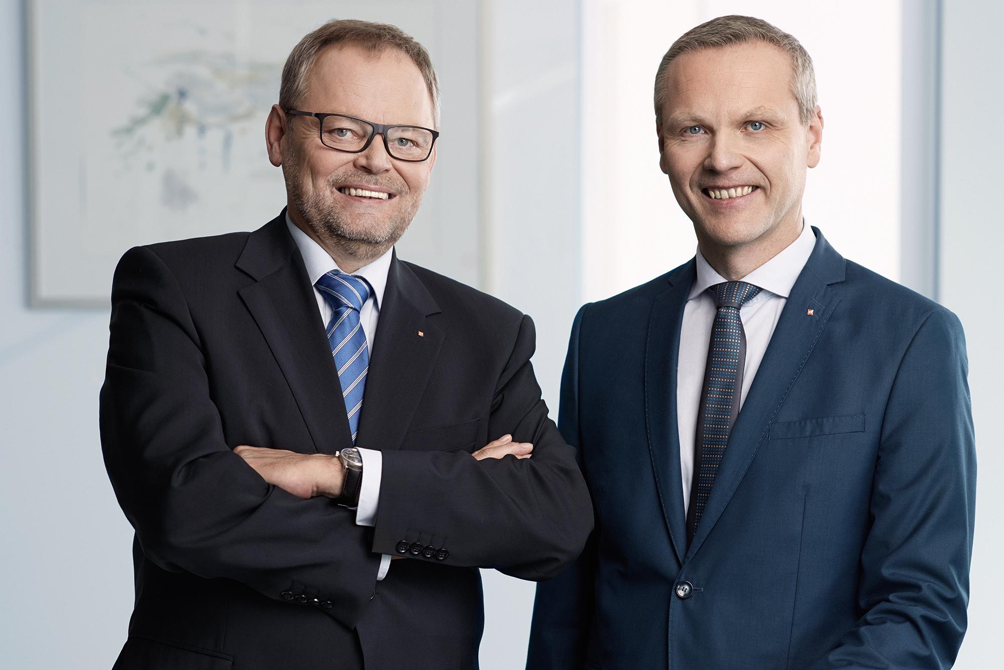Generaldirektor Dr. Josef Stockinger und sein Vorstandskollege Mag. Othmar Nagl