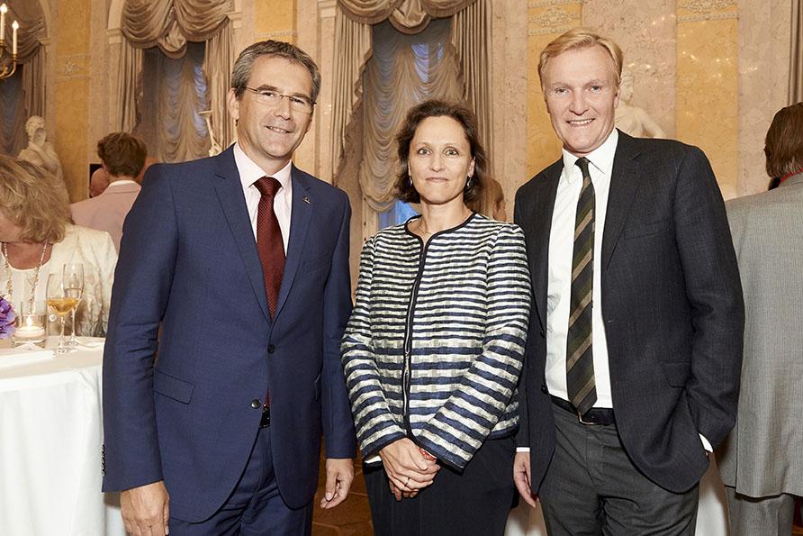 Hartwig Löger (UNIQA), Petra Eibel (UNIQA), Klaus-Albrecht Schröder (Albertina)